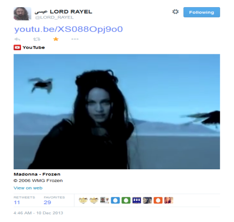 C:\Users\Dell\Desktop\Corey Work\Pictures\Dated Screen Captures\Lord RayEl 'Frozen' Tweet - December 10th 2013.png