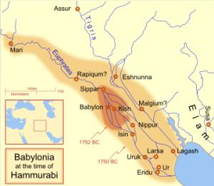 Map of Babylonia